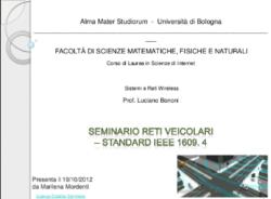RETI VEICOLARI - IEEE 1609.4